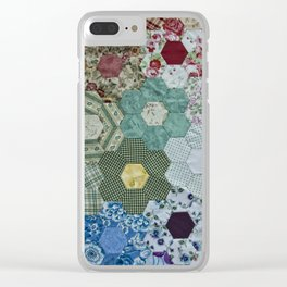 patchwork-design Clear iPhone Case