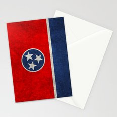 Tennessee State flag in Vintage Retro Style Stationery Cards