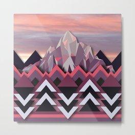 Night Mountains No. 8 Metal Print