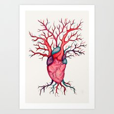 Heart Tree Art Print