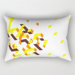 La colline mélancolique blanche Rectangular Pillow