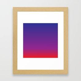 Blue+Red=Purple Framed Art Print