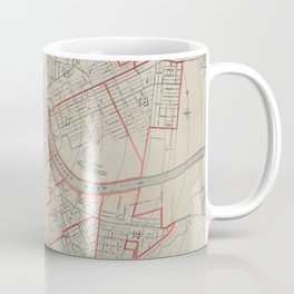 Vintage Map of Nashville TN (1891) Coffee Mug