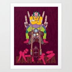 Krusty the Biker Gang Neo-Tokyo Clown Art Print