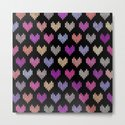 Colorful Knitted Hearts IV by uniqued