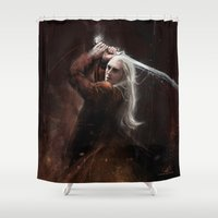 thranduil Shower Curtains featuring Thranduil by LucioL