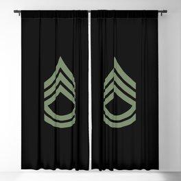Sergeant First Class (Green) Blackout Curtain
