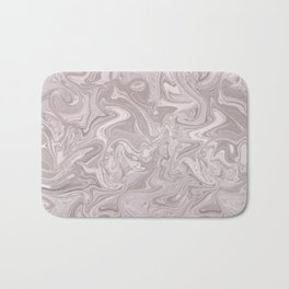 Faux Marble In Elegant Soft Pink Bath Mat