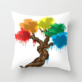 Tree Of Live Plant Color Gift Idea Throw Pillow