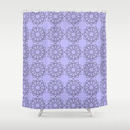 Lilac 12 Point Rosette Pattern Shower Curtain