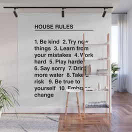 House Rules Wall Mural
