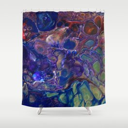 Purple Green Blue Red Flo Cels Shower Curtain