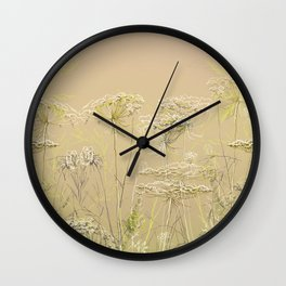Wild flowers and weeds 2 Wall Clock