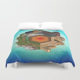 A Tiny World Duvet Cover