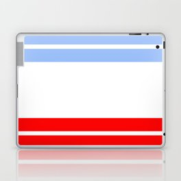 TEAM COLORS 9...Red,light blue, white Laptop & iPad Skin