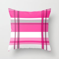 Shades of Pink and White II Throw Pillow