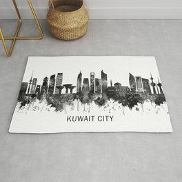 Kuwait City Kuwait Skyline BW Rug