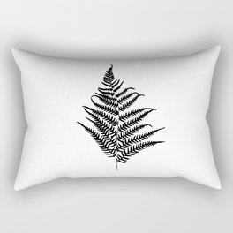 Fern silhouette. Isolated on white background Rectangular Pillow