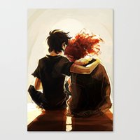 viria Canvas Prints featuring hey brother by viria