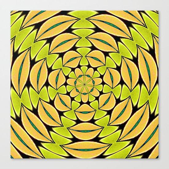 Orange/Green abstract Canvas Print