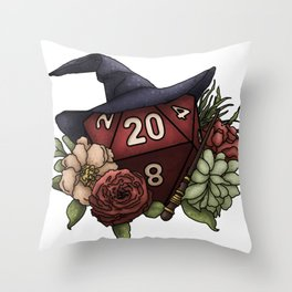 Wizard Class D20 - Tabletop Gaming Dice Throw Pillow