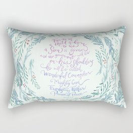 A Son is Given - Isaiah 9:6 Rectangular Pillow