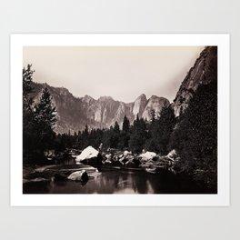 Merced River, Yosemite Valley, California, ca. 1865 Art Print