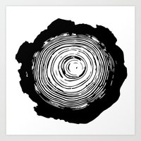 tree rings Art Prints featuring Tree Rings by vogel