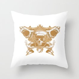 Captain Shark Throw Pillow