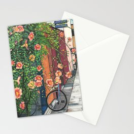 Flowers in an Alley Stationery Cards