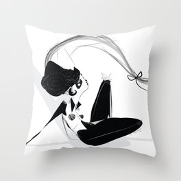 Jimmy - Emilie Record Throw Pillow