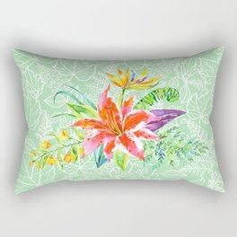 Tropical Floral Rectangular Pillow