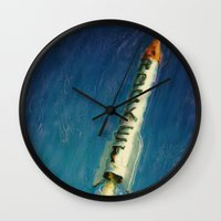 rocket Wall Clocks featuring Rocket by Kevin Garrison