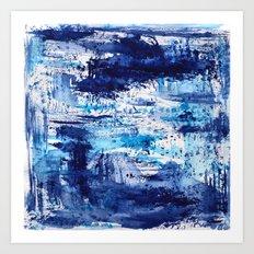 Blue passion || watercolor Art Print
