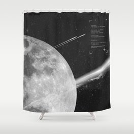 Space Mission-Hyperloop Shower Curtain