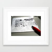 weapons of mass creation Framed Art Prints featuring Weapons of Mass Creation by Mazzy Eliza