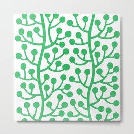 Beautiful Vine Pattern with Berries 424 Green Metal Print