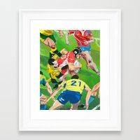 rugby Framed Art Prints featuring Rugby by Ciaran Murphy