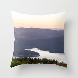 Union Valley Reservoir in the El Dorado National Forest Throw Pillow