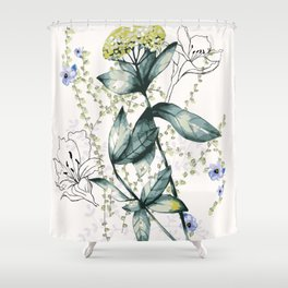 Floral fields upclose Shower Curtain