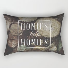 Homies Help Homies Rectangular Pillow