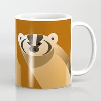 badger Mugs featuring badger by Thomas