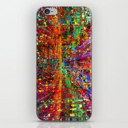 colourful peace iPhone Skin