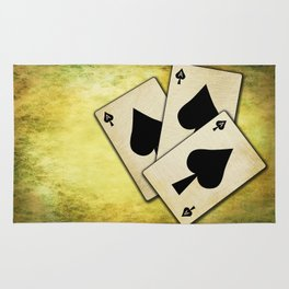 Ace of spades on textured background Rug