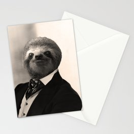 Gentleman Sloth #4 Stationery Cards