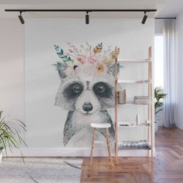Forest Raccoon by Nature Magick Wall Mural