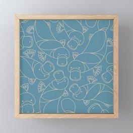 Minimalist Platypus Framed Mini Art Print