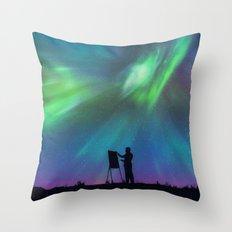 Borealis Painter Throw Pillow