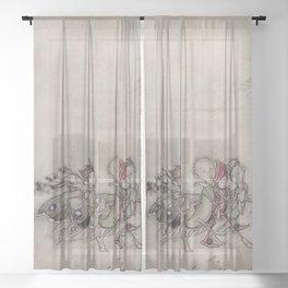 """Midsummer Fairies"" by Arthur Rackham Sheer Curtain"