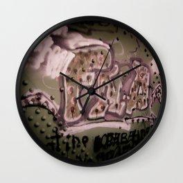 Staining The Path Wall Clock